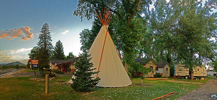 Tipi Camping Youth Hostel in Buffalo Wyoming